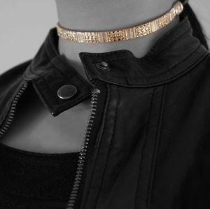 Jewelry - Aztec Gold Choker Cuff Necklace